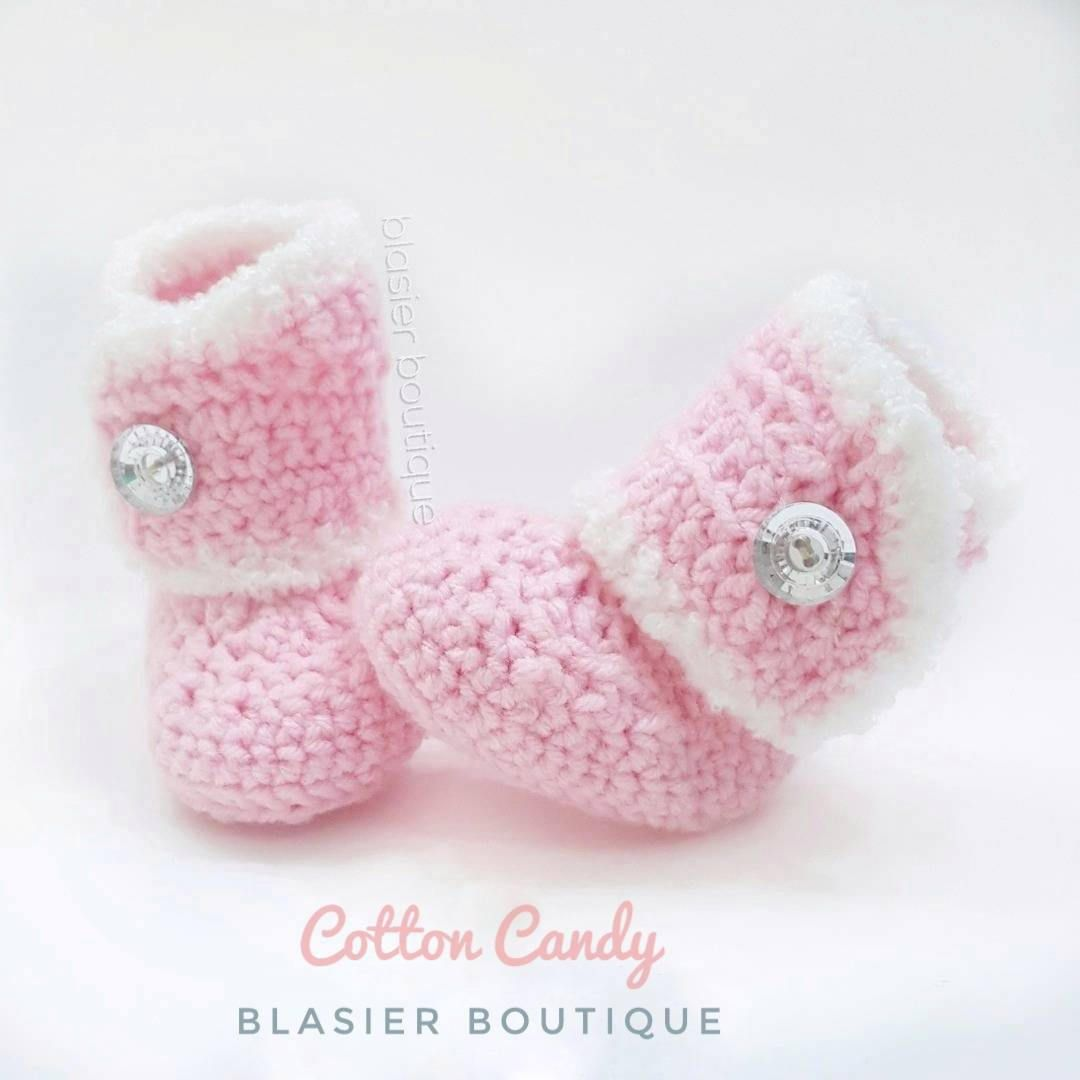 7b71e04205ad0 Princess Crochet Boots-Baby Girl Clothes - Baby Photo Prop - Newborn Baby  Booties -