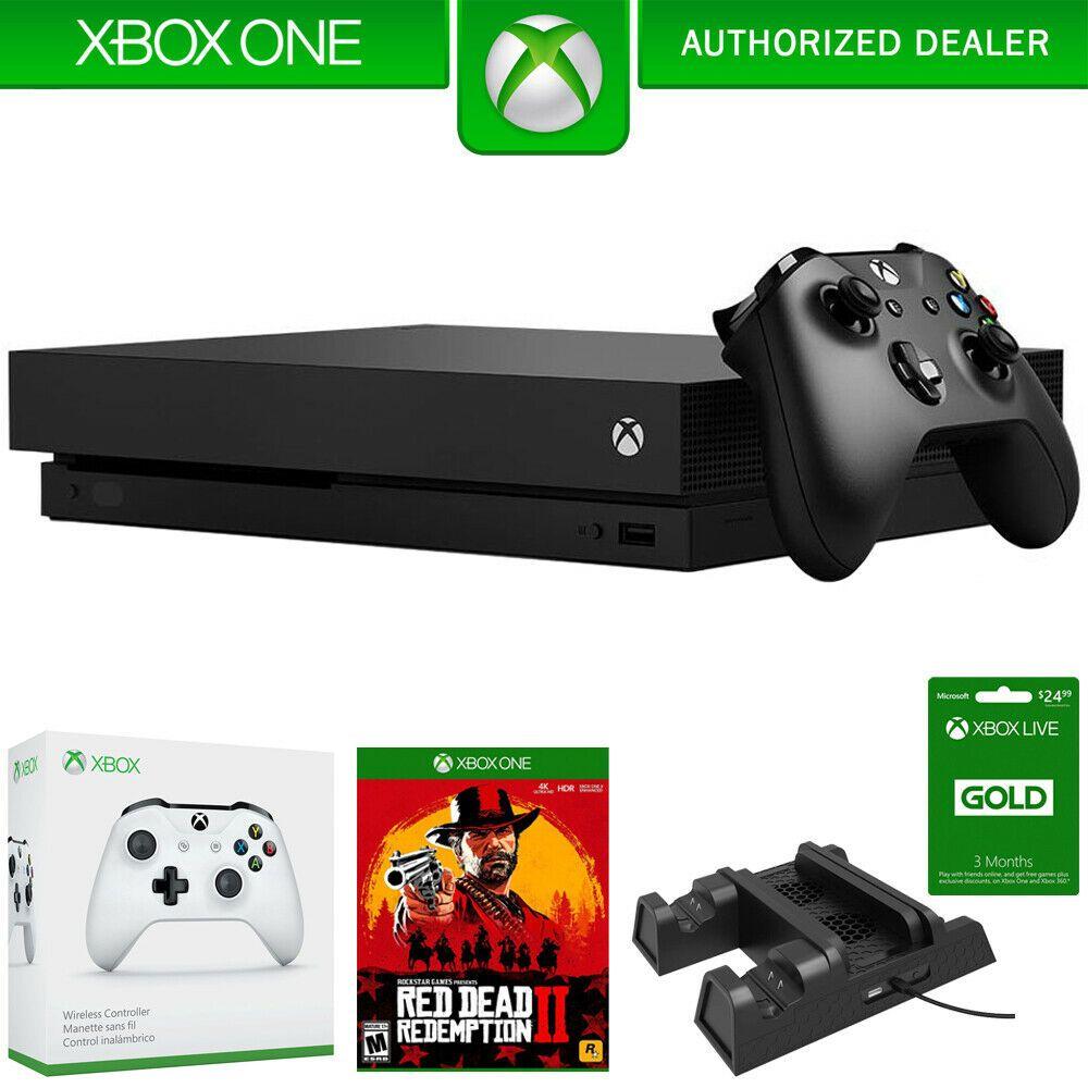 Microsoft Xbox One X 1tb Console W Red Dead Redemption 2 Accessories Bundle Xboxone Xbox Game Xbox Xbox One Microsoft