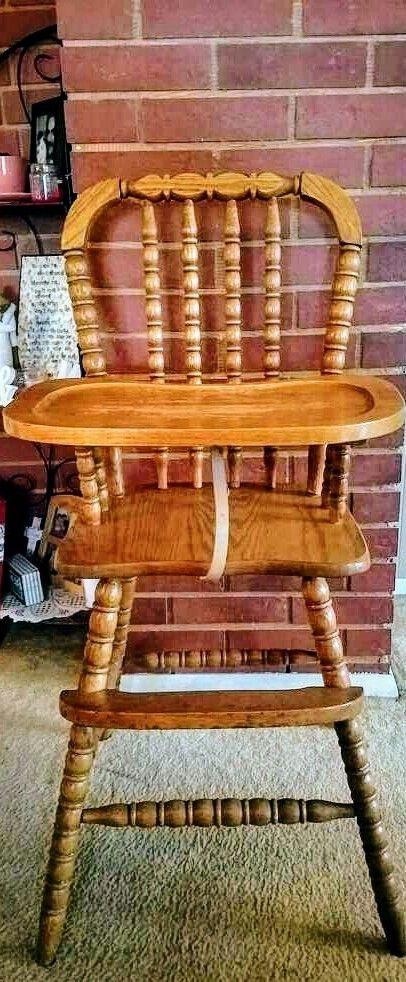 Antique Jenny Lind Style Wooden High Chair Union City Chair Company,  Unique! | Antiques