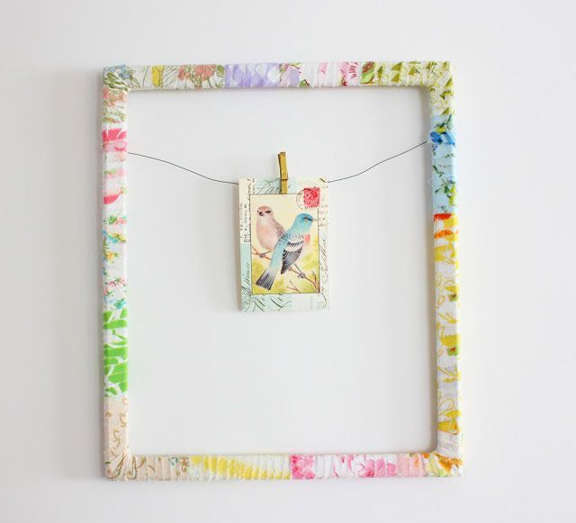 Fresh and Fun: Vintage Sheet Wrapped Frame -- A Tutorial. I\'ve been ...
