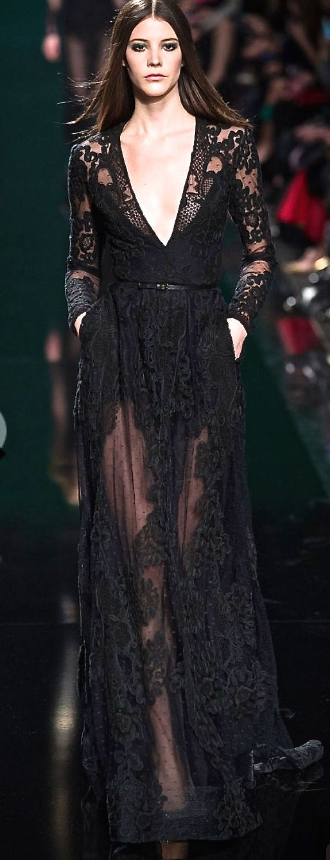Elie Saab, 2015 gorgeous black gown