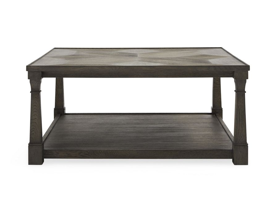 Arno 40 Square Coffee Table In Antiqued Brown Coffee Table With Shelf Coffee Table Coffee Table Square
