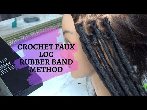 Quick Amp Easy Crochet Faux Loc Rubber Band Method