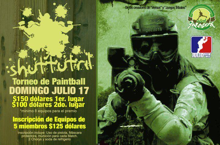 Afiche Disenado Para La Actividad De Paintball Shuttutril
