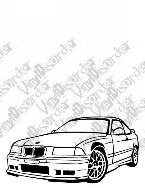 bmw e36 325 is decal