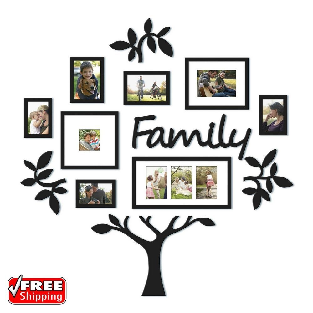 13 Piece Picture Photo Frame Set Family Tree Collage Gallery Wall Art Decor Home Garden Home Family Tree Collage Family Tree Frame Family Tree Wall Decor