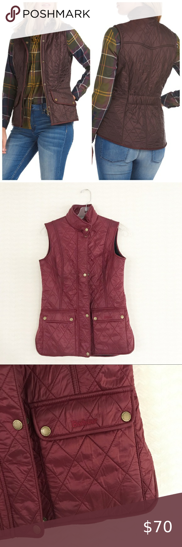 Barbour Calvary Quilted Vest Winter BlackBerry Bar