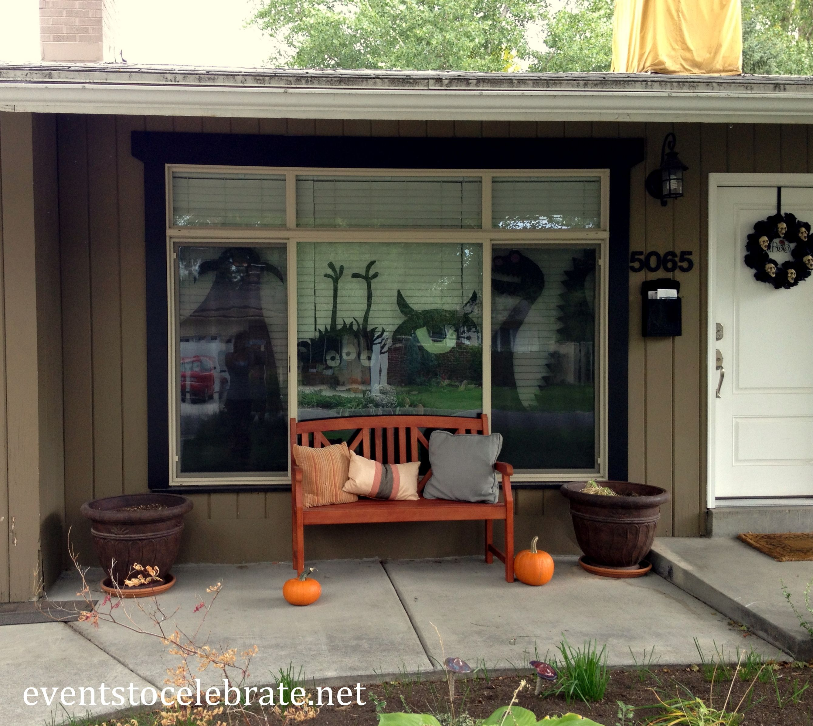 Halloween Window Decorations HALLOWEEN/FALL Pinterest - Halloween House Decoration