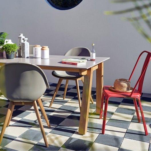 Salon de jardin Jambi bois naturel, 6 personnes | Desk and Table ...
