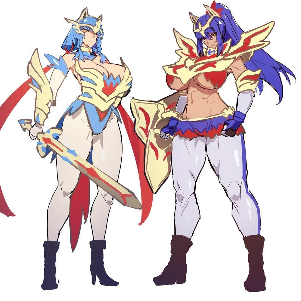 Zacian And Zamazenta Gijinkas Pokemon Sword And Shield Pokemon Characters Pokemon Pokemon Gijinka