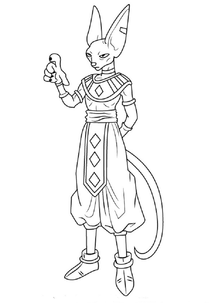 Dragon Ball Z Coloring Pages Beerus Dragon Ball Super Artwork Dragon Ball Artwork Dragon Ball Art
