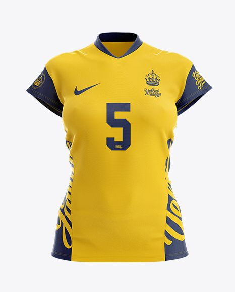 Download Women S Volleyball Jersey Mockup Front View In Apparel Mockups On Yellow Images Object Mockups Volleyball Kit Clothing Mockup Volleyball Jerseys