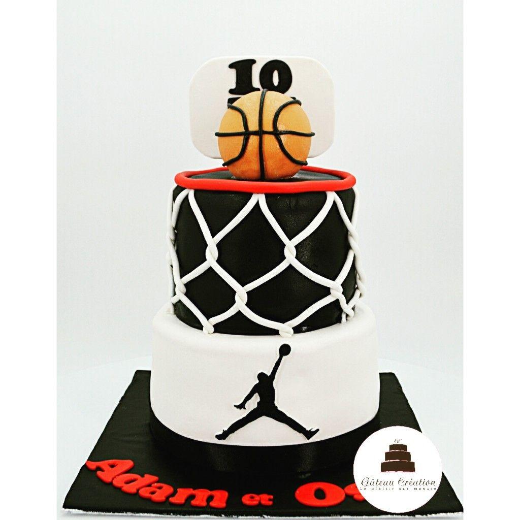 GâteauD'anniversaire Décoré Basket Ball Thème D'un Sur Le Du dxshQtrC