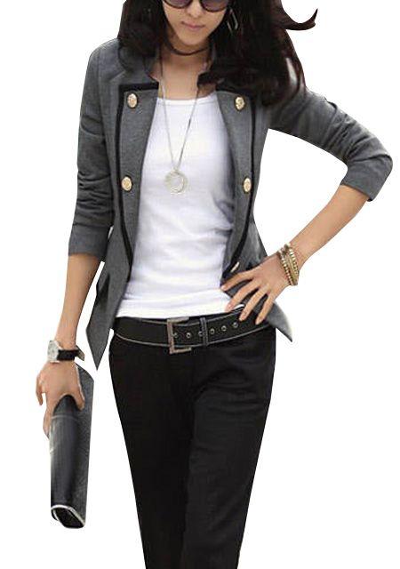 9a1f1ffec99a56 Mode nouvelle veste tailleur femme manche longue mince   Look mode ...