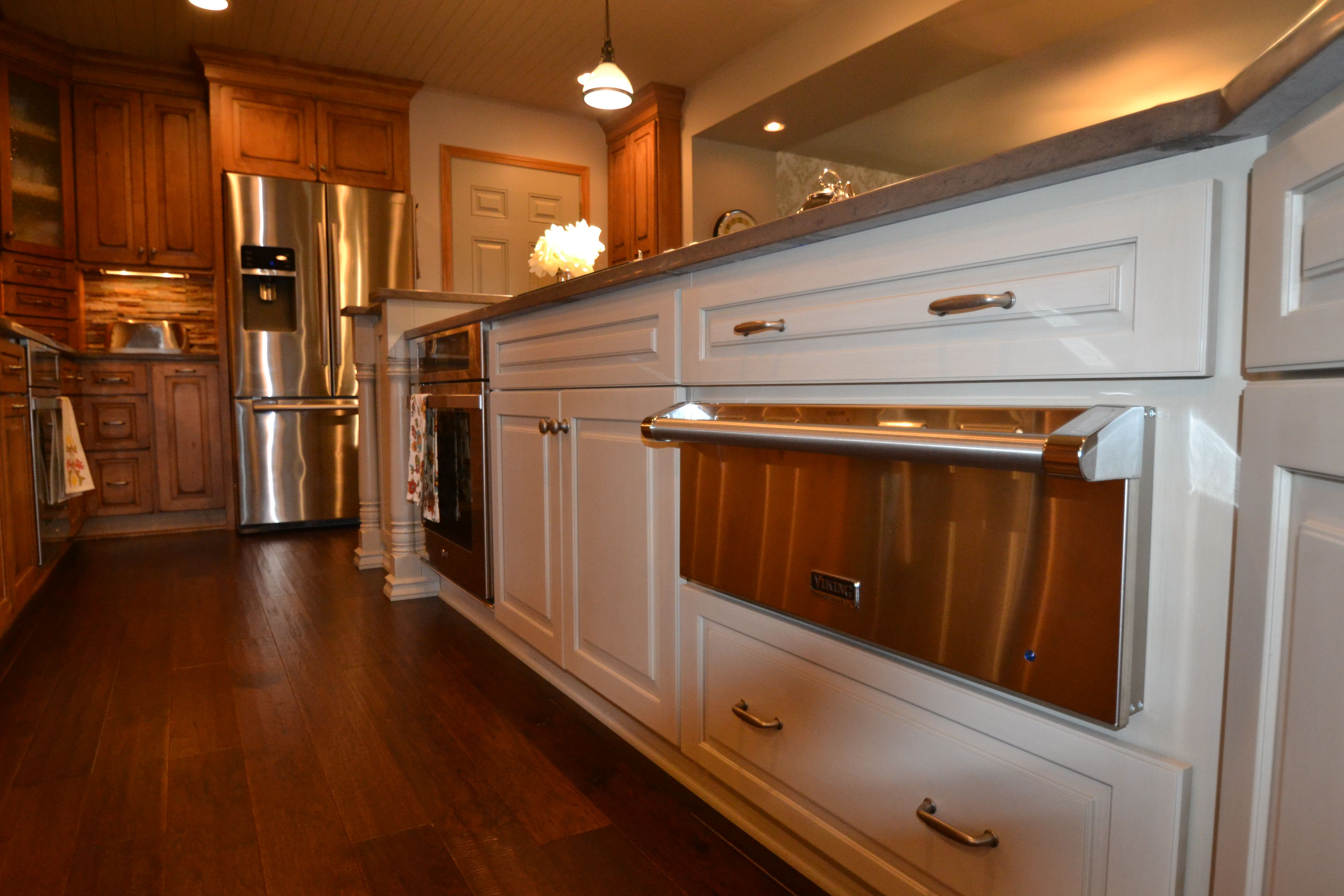 Westerville kitchen remodel featured two tones of Starmark Cabinetry ...
