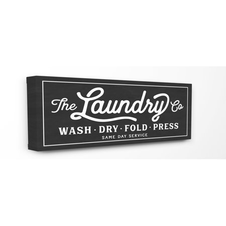 Stupell IndustriesVintage Laundry Sign Cursive TypographyCanvas Wall Art by Lettered and Lined - Walmart.com