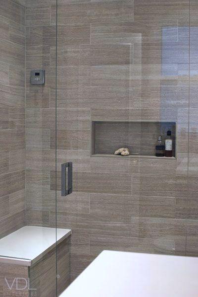 Longer rectangular niche Modern bathroom design