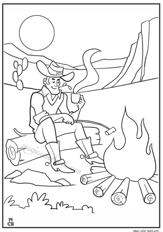 Pin de Magic Color Book en Cowboy Coloring pages | Pinterest