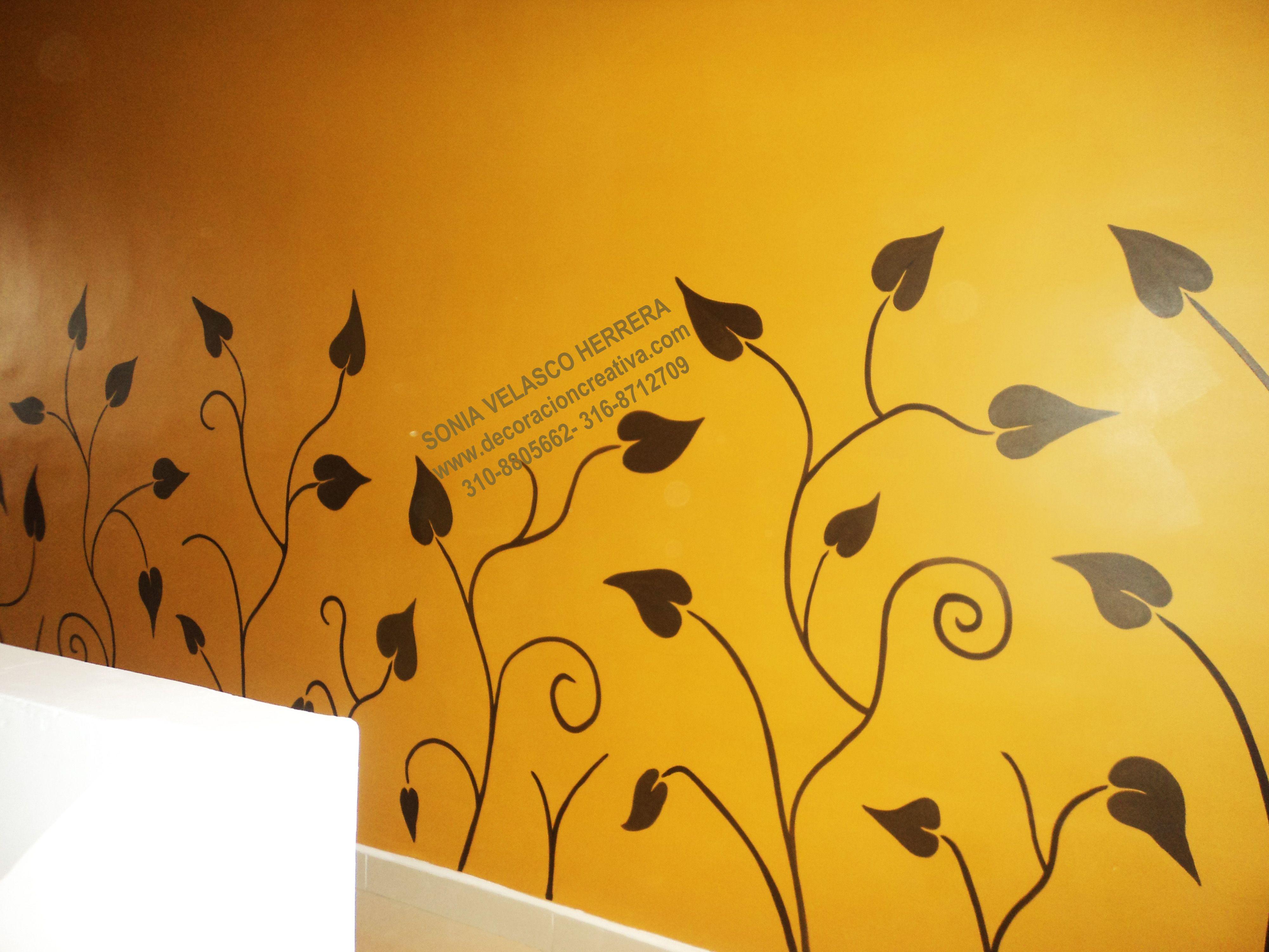 Pintado de ramas las texturas trabajadas con estucos y - Pintado de paredes ...