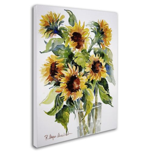 """Found it at Wayfair - """"Sunflowers"""" by Rita Auerbach Painting Print on Wrapped Canvas"""