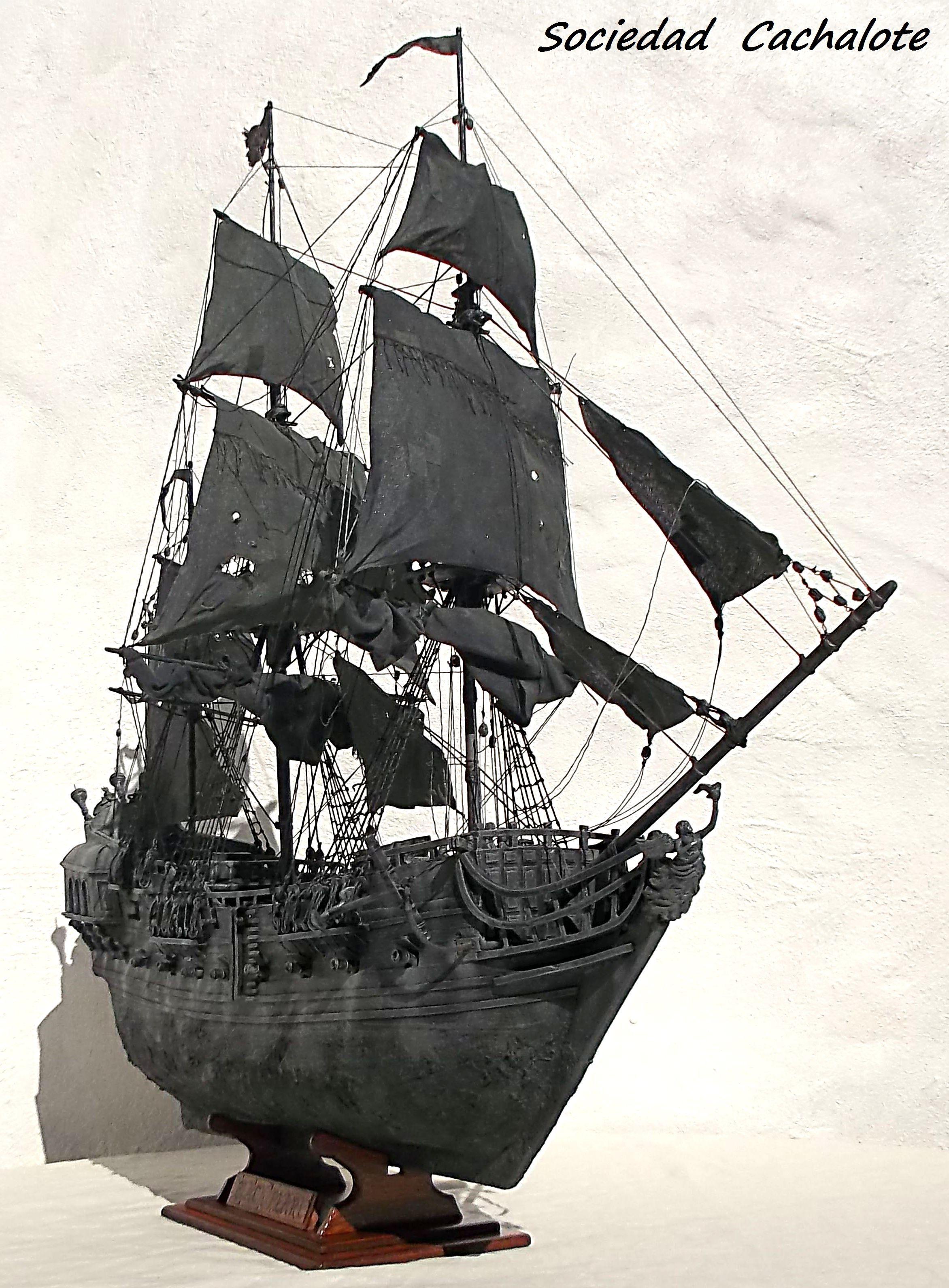 Perla Negra Sociedad Cachalote Black Pearl Ship Model Ships Sailing Ships