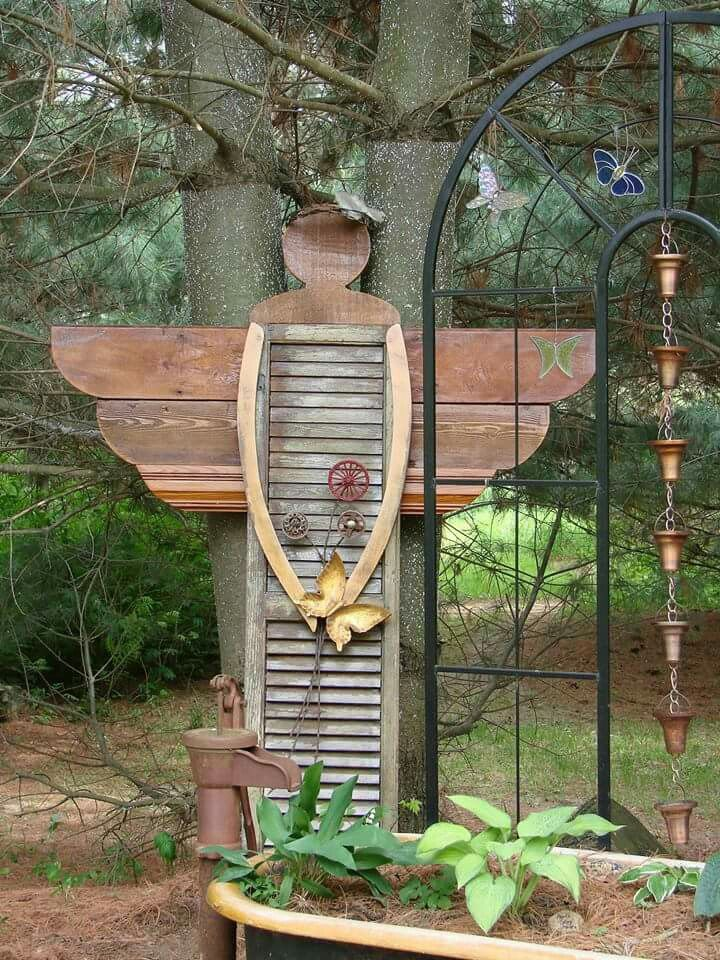 Gartendeko Holz made from shutter yard
