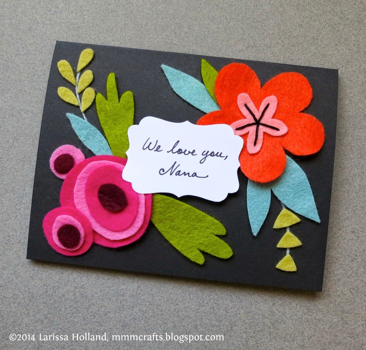 mmmcrafts: make a felt bouquet card for mom