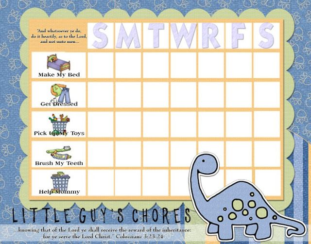 KIDS CHORE CHARTS!!! Ideas for kid stuff Pinterest Chart