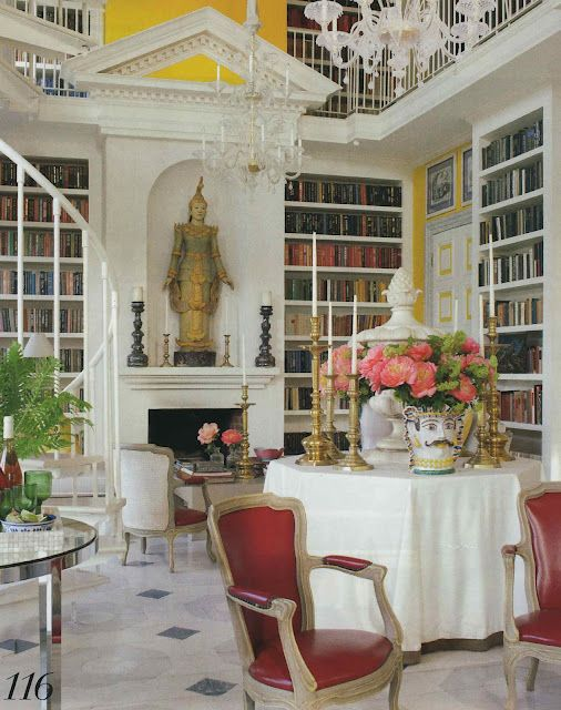 Library & dining room. Tom Britt & Valentino Samsonadze. Veranda May June 2012.