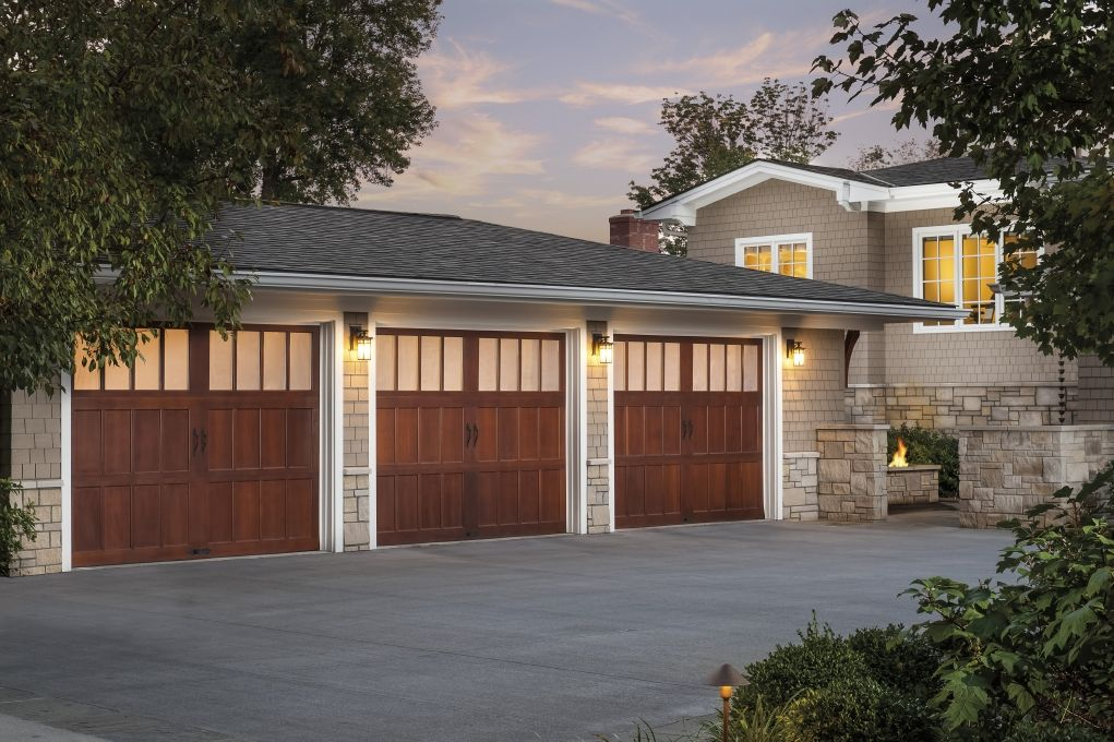 Natural beauty timeless appeal clopay reserve collection for Stained garage doors