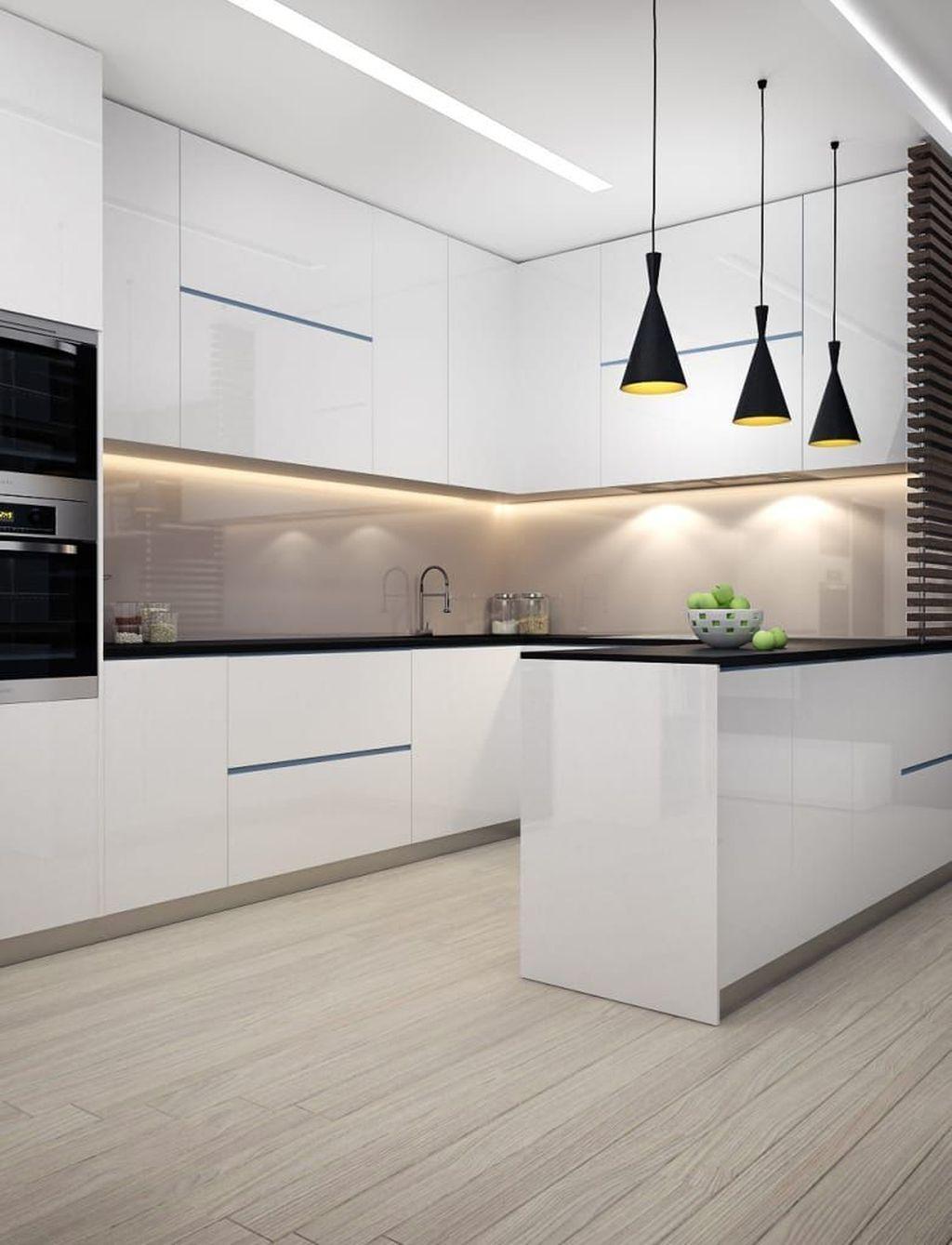 40 Inspiring Modern Luxury Kitchen Design Ideas Modern Kitchen Design Luxury Kitchens White Kitchen Design