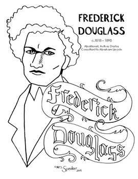 Frederick Douglass Coloring Page By Mrsspeaker Tpt Coloring Pages Frederick Douglass Educational Illustration