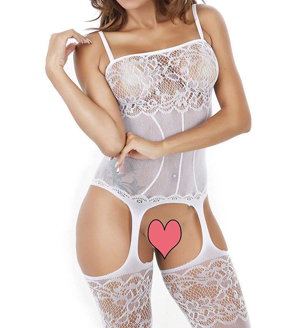 b791a24703e Sexy Lingerie Women Fishnet Sheer Open Crotch Body Stocking Bodysuit  One-Piece Nightwear Lingerie#Fishnet, #Sheer, #Open