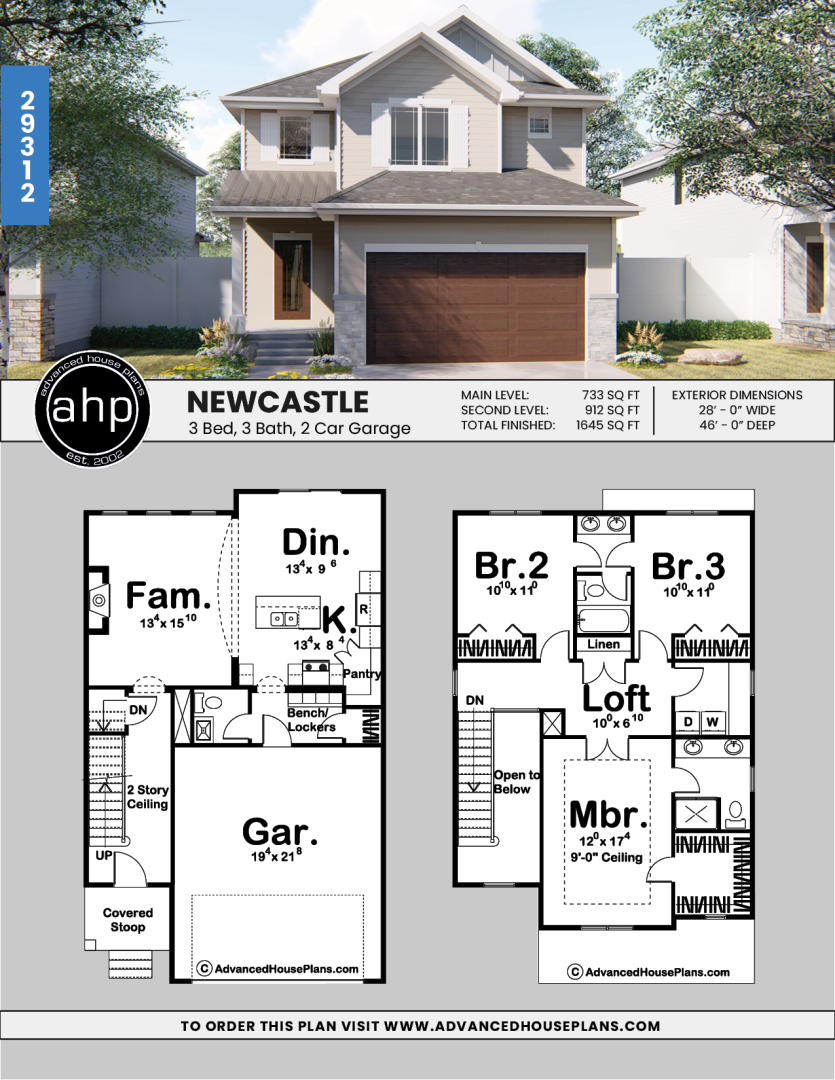 2 Story Traditional House Plan Newcastle In 2020 Town House