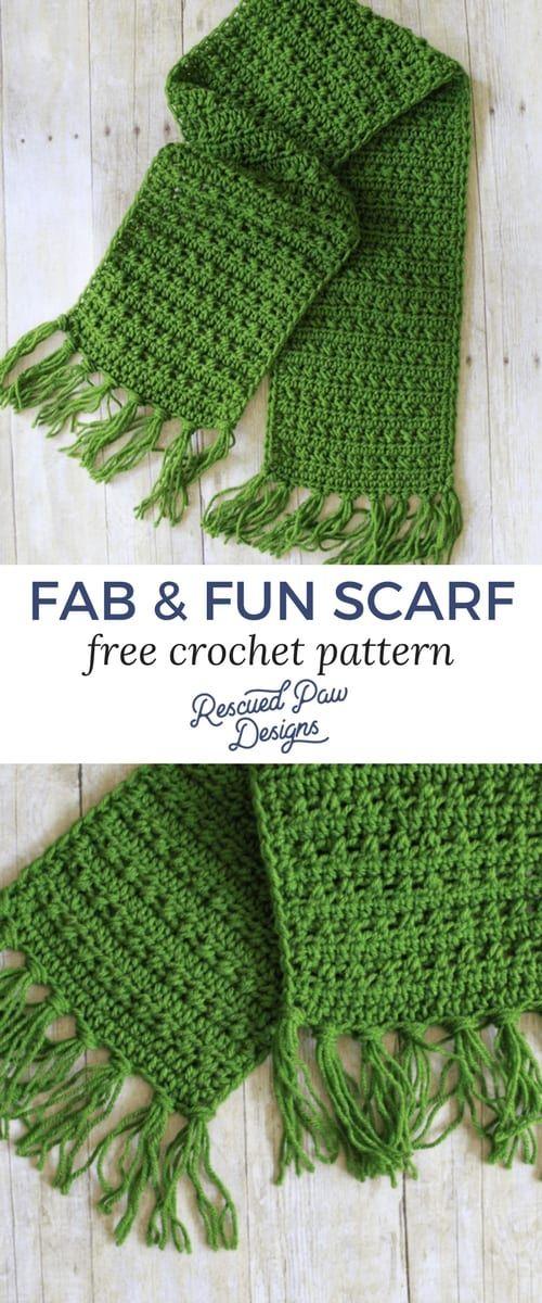 Fabulously Fall Fringe Scarf Free Crochet Pattern Crochet