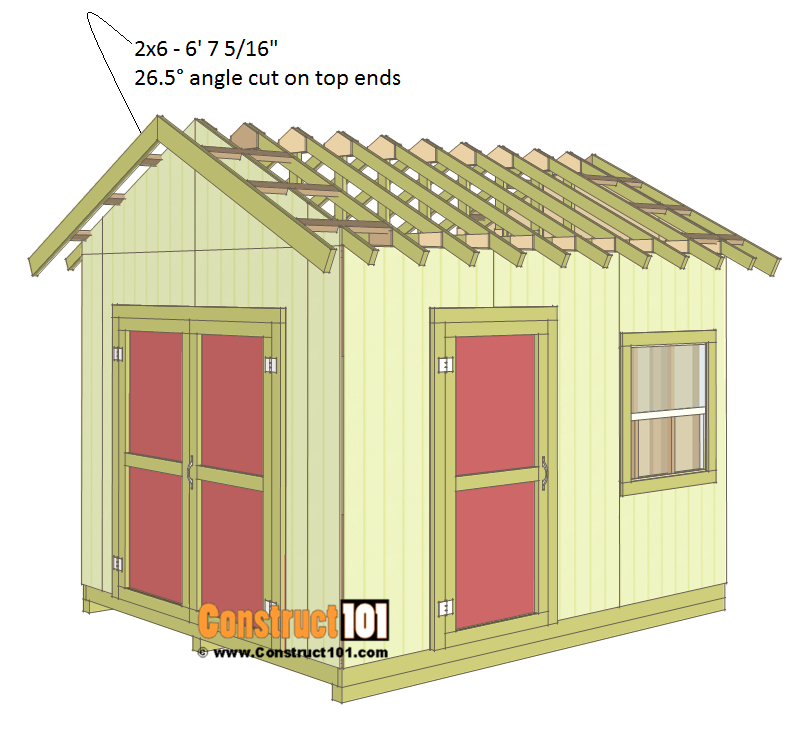 Shed Plans 10x12 Gable Shed Step By Step Construct101 Diy Storage Shed Plans 10x12 Shed Plans Shed Design