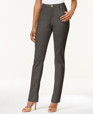 f7b47b02 Lee Platinum Petite Gwen Colored Wash Straight-Leg Jeans, Only At Macy's -  Green 14P