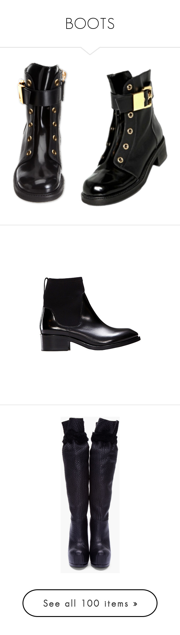 """""""BOOTS"""" by anul1 ❤ liked on Polyvore featuring shoes, boots, ankle booties, high heel platform boots, platform boots, knee high boots, black knee high heel boots, leather sole boots, footwear and sapatos"""