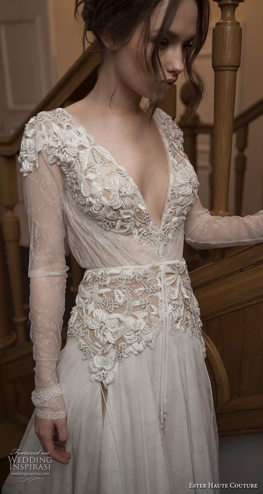 Ester Haute Couture 2018 2019 Wedding Dresses Wedding Inspirasi Wedding Dress Couture Couture Wedding Gowns Wedding Gown Lace Sleeves