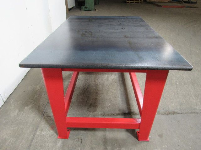 """steel welding work bench assembly layout table 60"""" x 40"""" 1"""" thick"""
