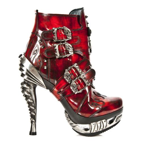 New Rock Damen Stiefelette gothic rot M.MAG005-C3 30 Tage