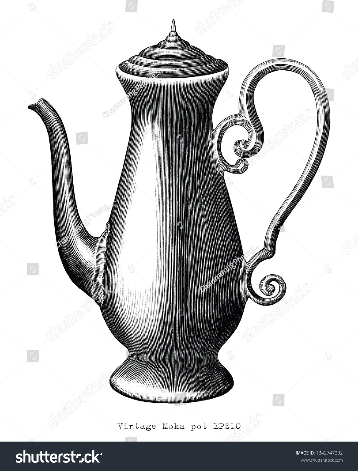 Antique Engraving Illustration Of Moka Pot Black And White Clip Art Isolated On White Background Ad Spon M Engraving Illustration Illustration Art Design