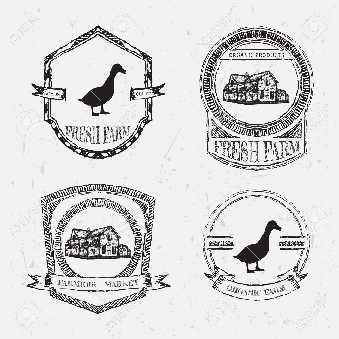 Farmhouse Style Vector