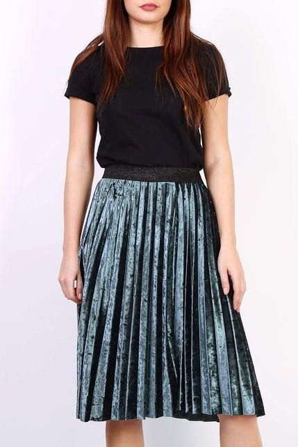 9f1b95e1f57e Zelená plisovaná stredne dlhá sukňa