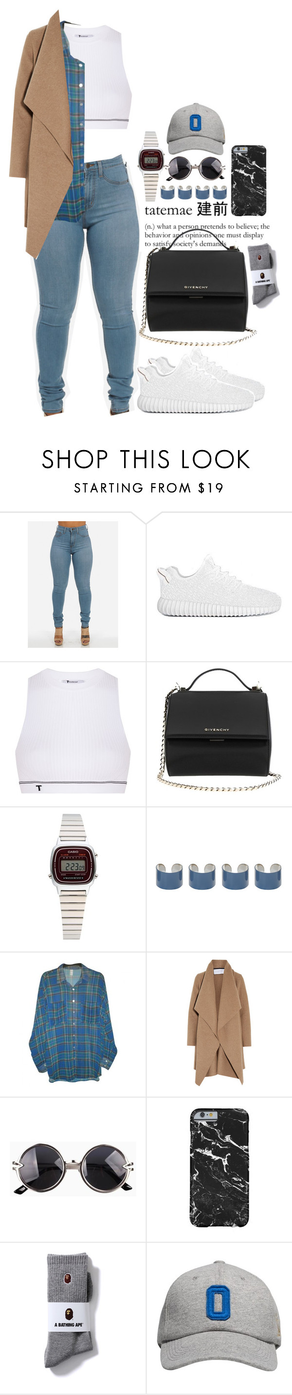 """Untitled #576"" by skaiisaylor ❤ liked on Polyvore featuring T By Alexander Wang, Givenchy, Casio, Maison Margiela, American Apparel, Harris Wharf London, October's Very Own, women's clothing, women and female"