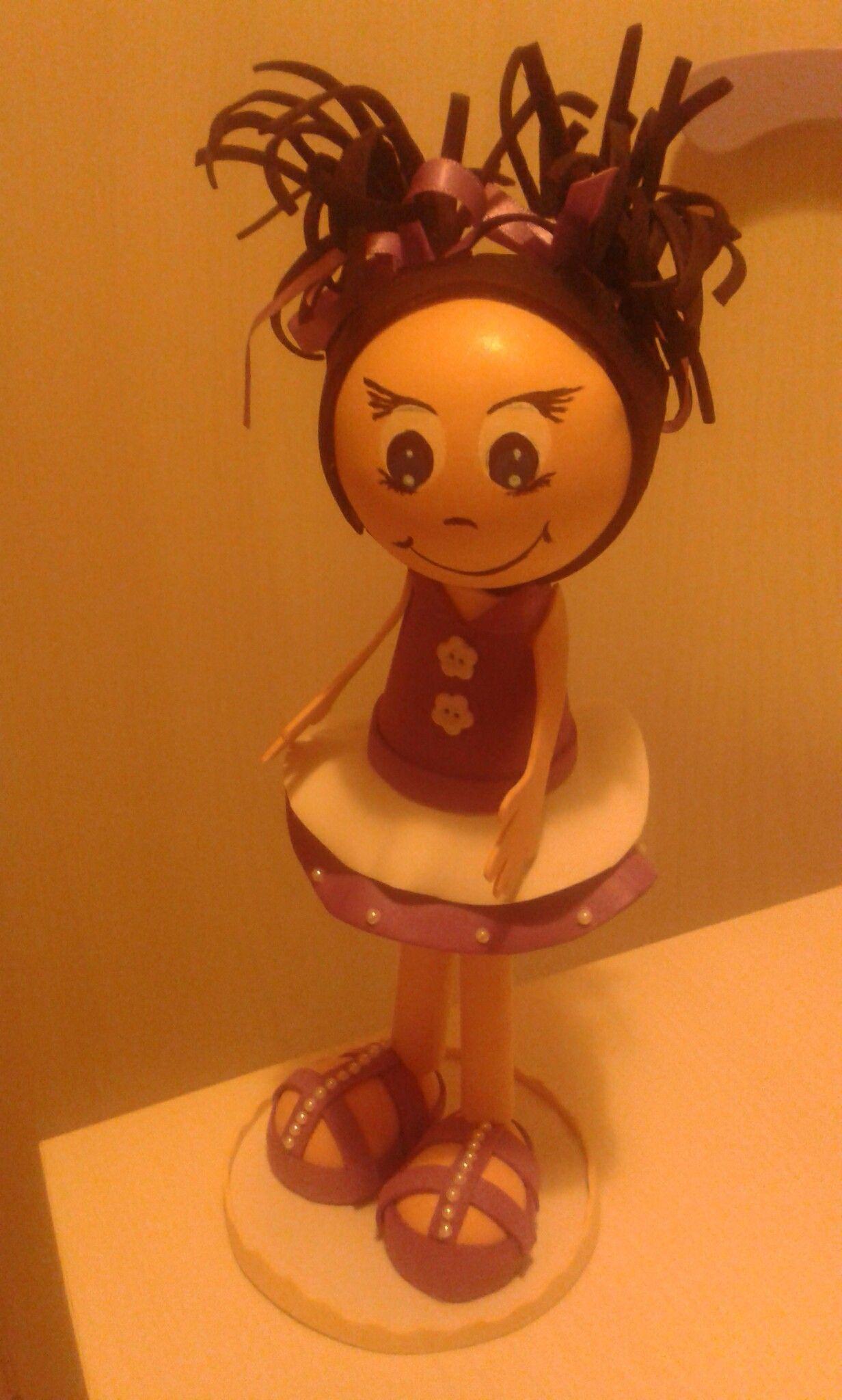 Bambola in moosgummi