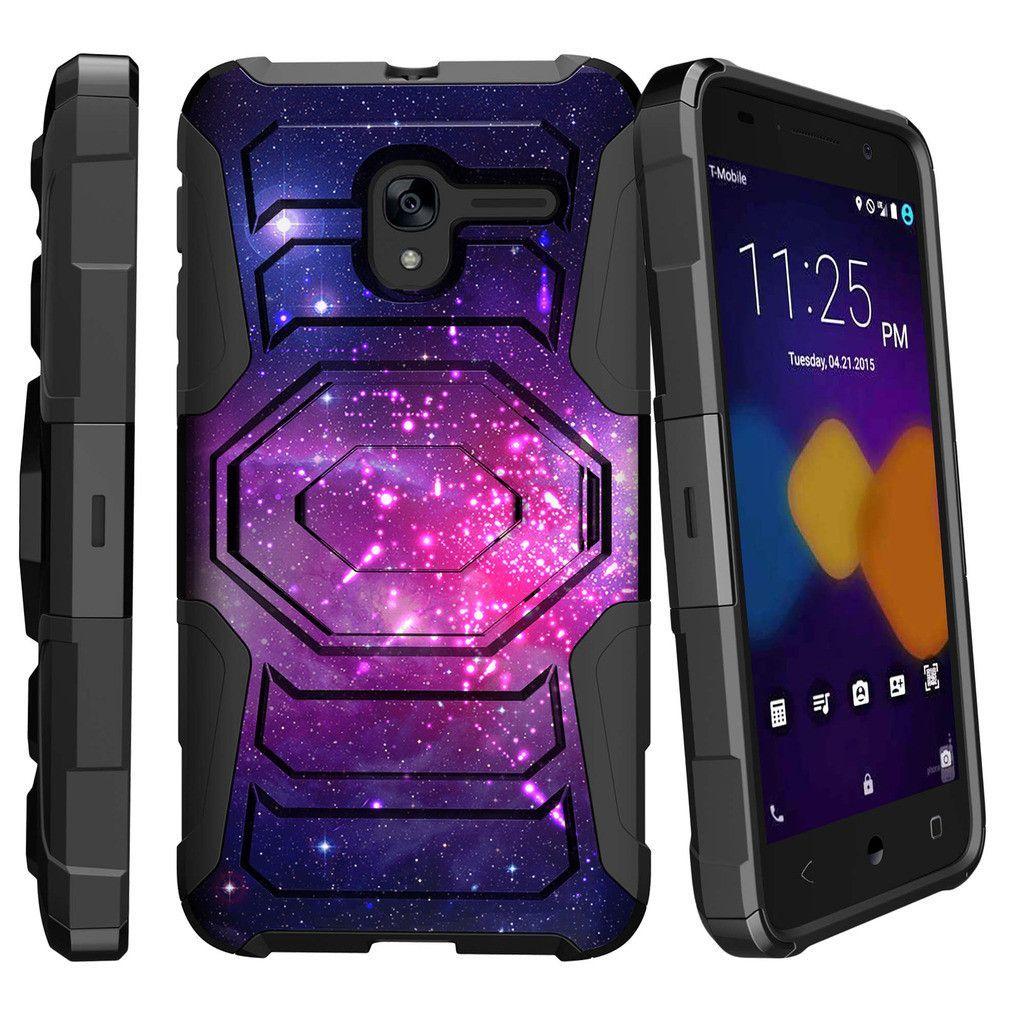 Alcatel Stellar Holster Case, Alcatel Tru Case, 5065N Case [Armor Reloaded] Holster Combo + Rugged Impact - Heavenly Stars