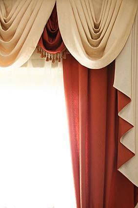 This Is Another Example Of Swag Curtains I Love The Warmth That Burnt Umber Color Underneith Radiates And Brings In Some Interest