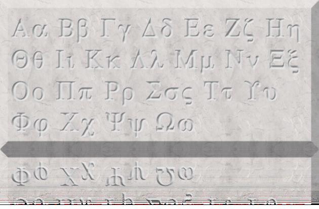Alphabet Inscription and all about Greek pronunciation