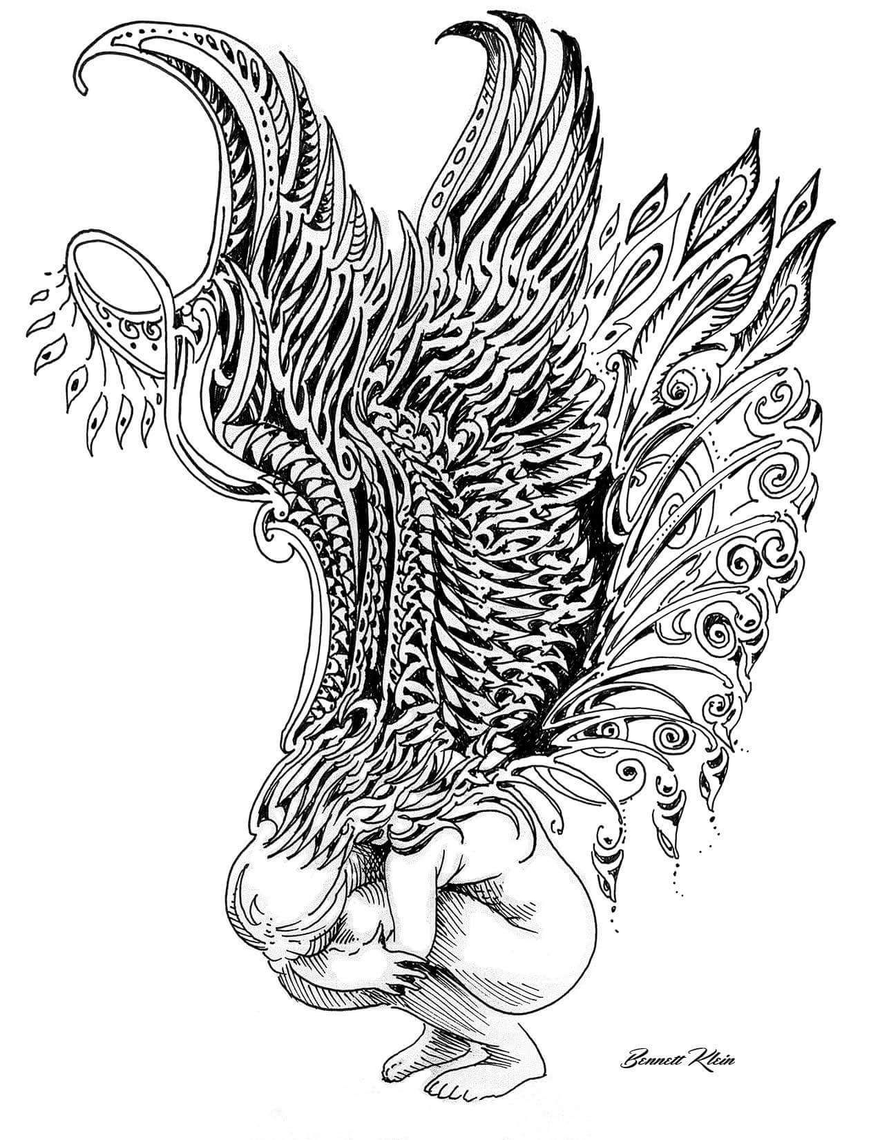 Bennett Klein Coloring Pages Animorphia Coloring Book Steampunk Coloring
